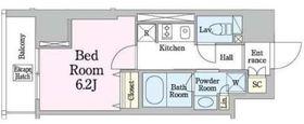 レジディア笹塚33階Fの間取り画像