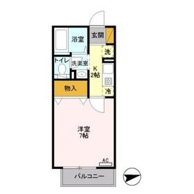 ルミエール2階Fの間取り画像