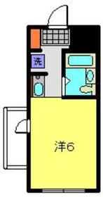 スカイコート西横浜第六8階Fの間取り画像