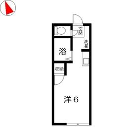 コーポ アムール2階Fの間取り画像