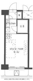 ウィンベルソロ横浜阪東橋壱号館5階Fの間取り画像