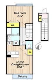 ミカシータ2階Fの間取り画像