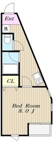 エクセル新百合丘2階Fの間取り画像