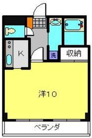 レイナス片倉2階Fの間取り画像