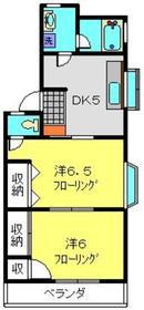 サニーウェル本宿Ⅲ1階Fの間取り画像