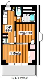 下赤塚駅 徒歩9分3階Fの間取り画像