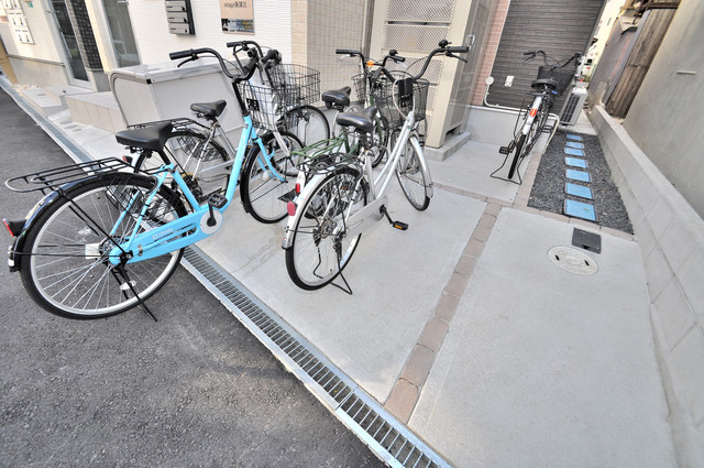 Stage新深江 敷地内には専用の駐輪スペースもあります。