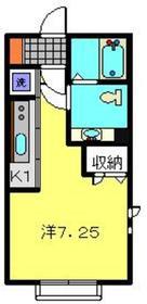 ディアスパルモSAKURA1階Fの間取り画像