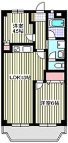 西高島平駅 徒歩5分6階Fの間取り画像
