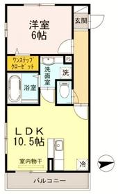 第1コスモスヴィラ3階Fの間取り画像