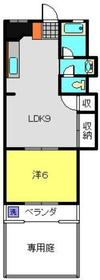 菊名駅 徒歩13分1階Fの間取り画像