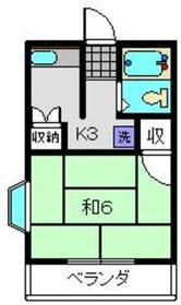 パーク横浜2階Fの間取り画像