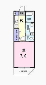 メゾン TMSK3階Fの間取り画像