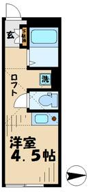 桜ヶ丘駅 徒歩6分2階Fの間取り画像