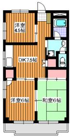 第1オリエンタルマンション3階Fの間取り画像