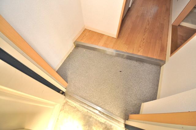 サニーハイム上小阪 お部屋の入口には何も置かず、シンプルが一番ですね。