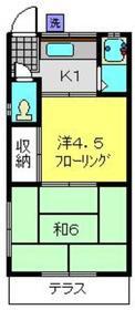高島台アパート1階Fの間取り画像