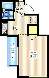 ドミール保土ヶ谷2階Fの間取り画像
