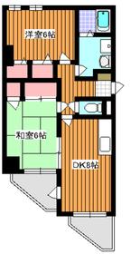 三高サンアヴェニュー3階Fの間取り画像