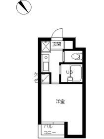スカイコート文京小石川第22階Fの間取り画像