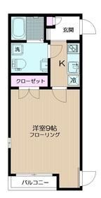 ヴェルデ中野本町2階Fの間取り画像