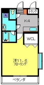 グラーツ橘3階Fの間取り画像