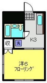 新丸子駅 徒歩3分1階Fの間取り画像
