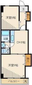 メゾンピュール3階Fの間取り画像