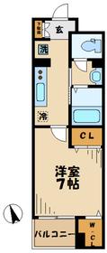 読売ランド前駅 徒歩7分5階Fの間取り画像