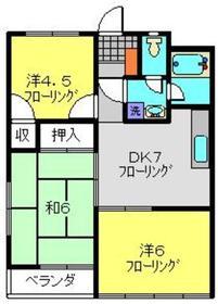 日吉駅 徒歩24分3階Fの間取り画像
