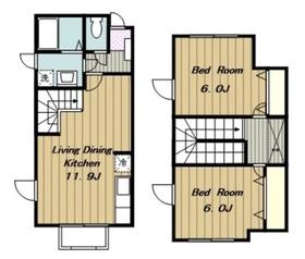 モンラルジュ5番館1-2階Fの間取り画像