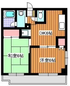 和光市駅 徒歩10分4階Fの間取り画像