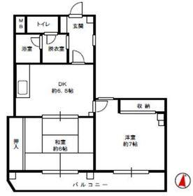栗原第3ビル3階Fの間取り画像