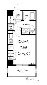アトラス江戸川アパートメント3階Fの間取り画像