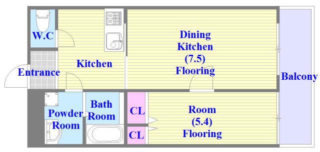 リバーサイド金岡六番館 シンプルな住み心地を実感できる素敵な間取りになってます。