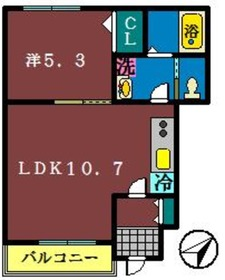 サンプレス塚田1階Fの間取り画像