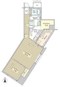 MOMENTO SHIODOME20階Fの間取り画像