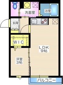 グランツ妙蓮寺2階Fの間取り画像