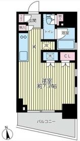 プレイアデ銀座エスト6階Fの間取り画像