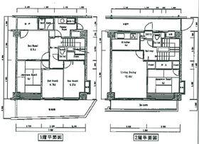 バードタウン3番館1-2階Fの間取り画像