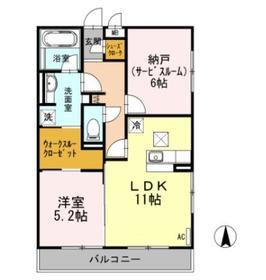 マリアエレナ2階Fの間取り画像
