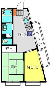 メゾンカワイ2階Fの間取り画像