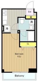 共栄町田ビル3階Fの間取り画像