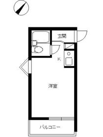 スカイコート尾山台4階Fの間取り画像