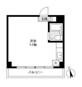 プラーズ鶴見中央Ⅲ6階Fの間取り画像