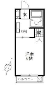 グリーンコーポ鶴ヶ峰A2階Fの間取り画像