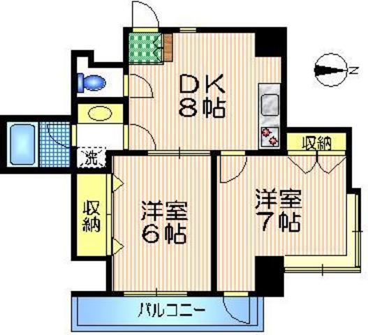 千歳船橋駅 徒歩7分間取図
