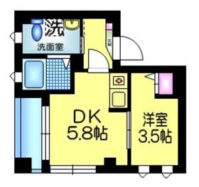 平井SKハイツ2階Fの間取り画像