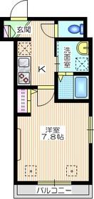 リソ ステュディオ2階Fの間取り画像