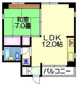 KARASAWAビル4階Fの間取り画像